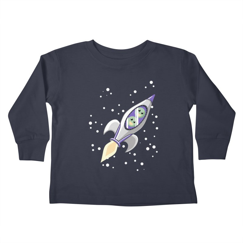 Two Peas in a Space Pod Kids Toddler Longsleeve T-Shirt by ariesnamarie's Artist Shop
