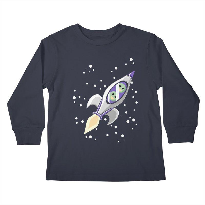 Two Peas in a Space Pod Kids Longsleeve T-Shirt by ariesnamarie's Artist Shop