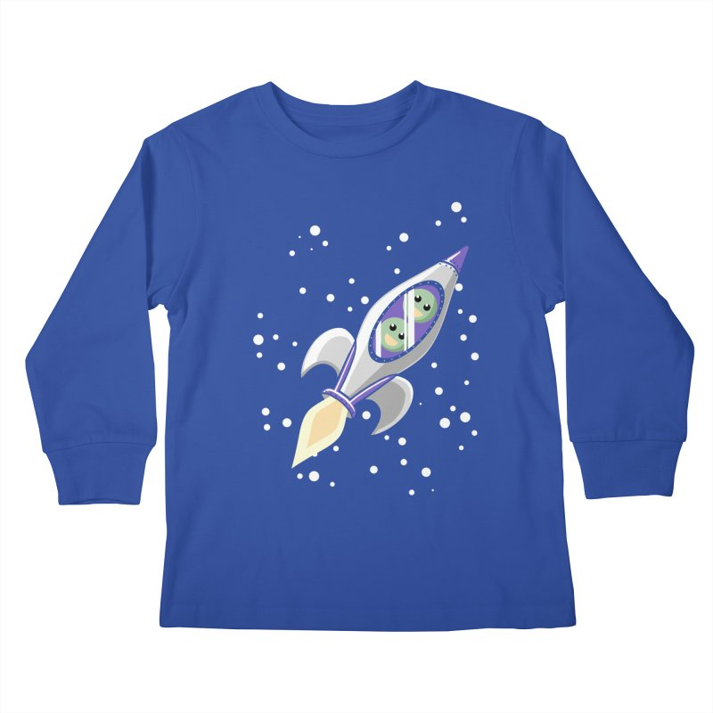 Two Peas in a Space Pod Kids Longsleeve T-Shirt by ariesnamarie's Artist Shop