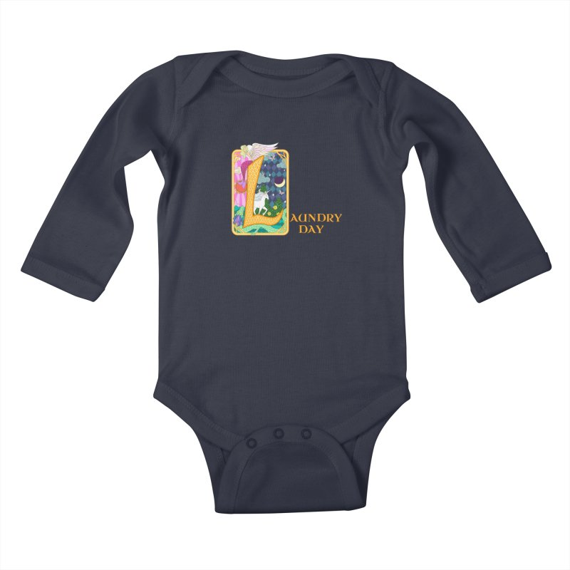 Mundane Fairytale Kids Baby Longsleeve Bodysuit by ariesnamarie's Artist Shop