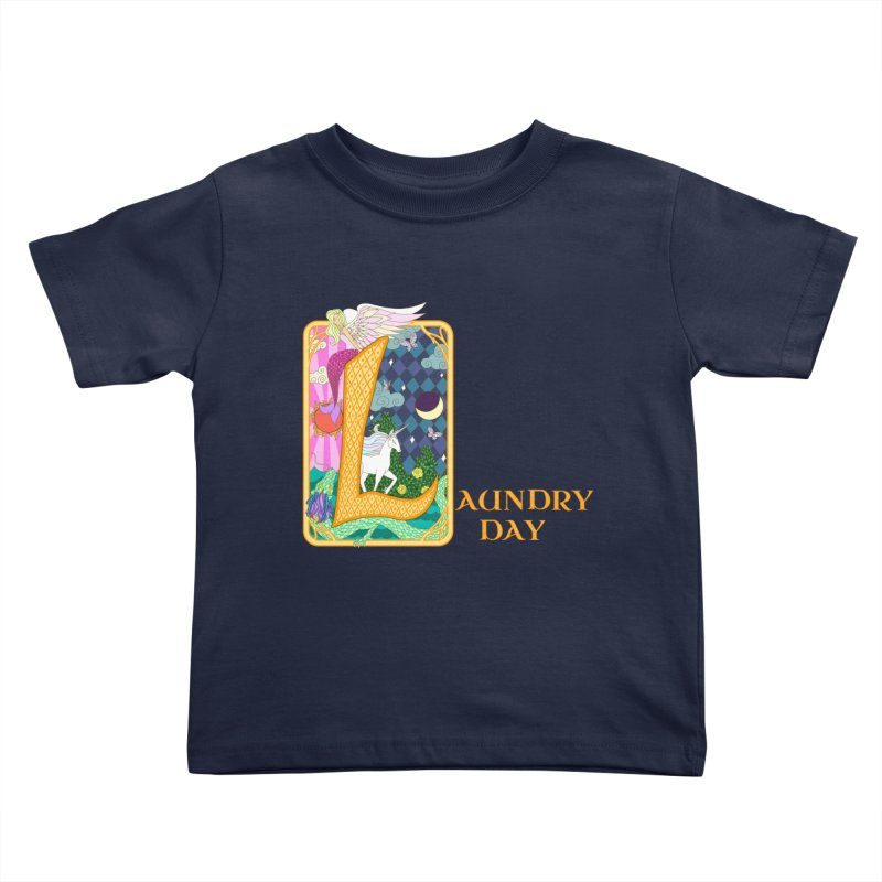 Mundane Fairytale Kids Toddler T-Shirt by ariesnamarie's Artist Shop