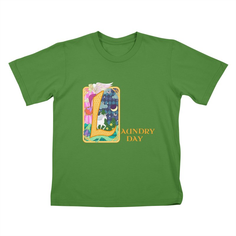 Mundane Fairytale Kids T-Shirt by ariesnamarie's Artist Shop