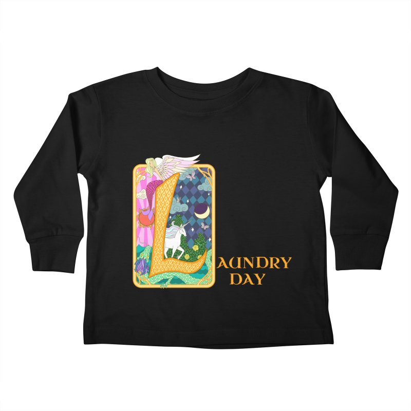 Mundane Fairytale Kids Toddler Longsleeve T-Shirt by ariesnamarie's Artist Shop