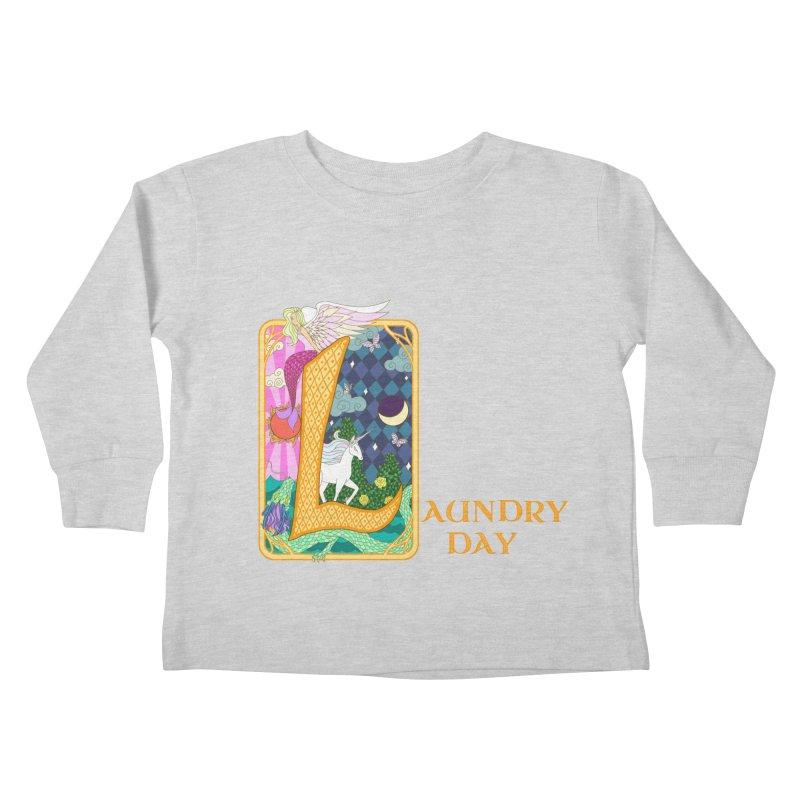 Mundane Fairytale Kids Toddler Longsleeve T-Shirt by ariesnamarie's Artist Shop