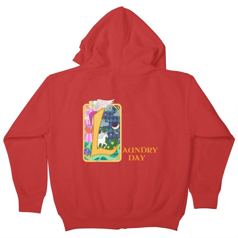 Mundane Fairytale Kids Zip-Up Hoody by ariesnamarie's Artist Shop