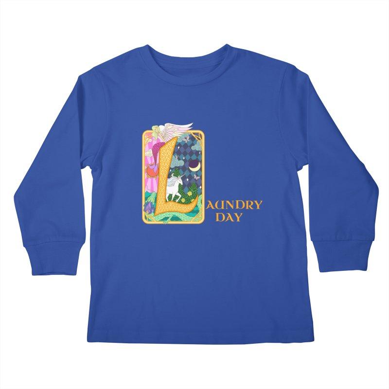 Mundane Fairytale Kids Longsleeve T-Shirt by ariesnamarie's Artist Shop