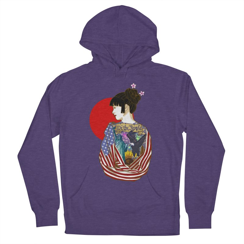 The Illustrated Woman Women's French Terry Pullover Hoody by ariesnamarie's Artist Shop