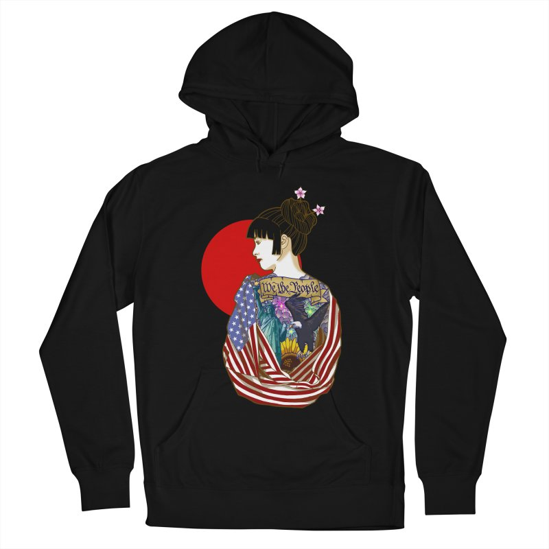 The Illustrated Woman Women's Pullover Hoody by ariesnamarie's Artist Shop