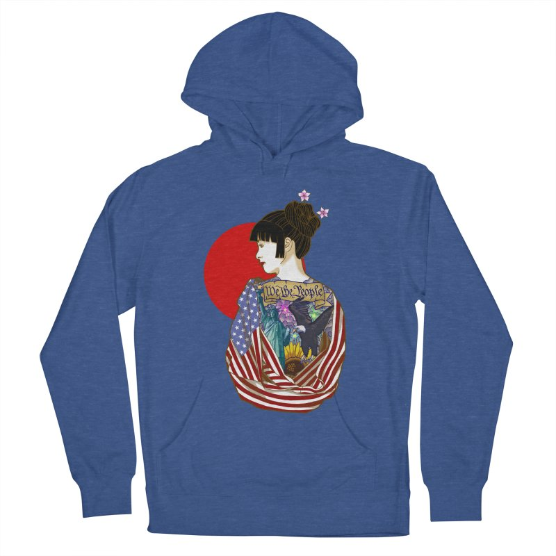 The Illustrated Woman Men's French Terry Pullover Hoody by ariesnamarie's Artist Shop