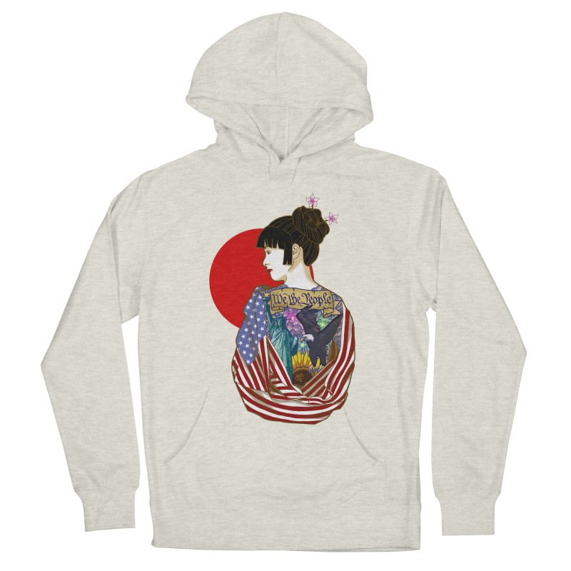 The Illustrated Woman Men's Pullover Hoody by ariesnamarie's Artist Shop