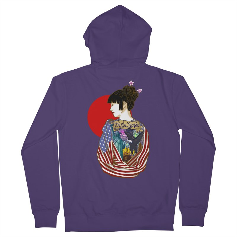 The Illustrated Woman Women's Zip-Up Hoody by ariesnamarie's Artist Shop