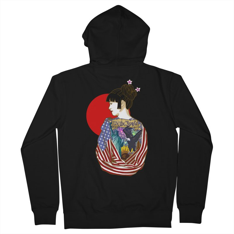 The Illustrated Woman Men's Zip-Up Hoody by ariesnamarie's Artist Shop