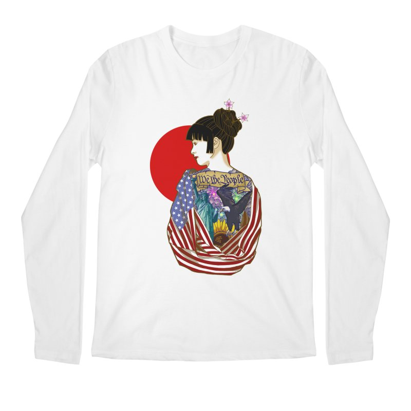 The Illustrated Woman Men's Longsleeve T-Shirt by ariesnamarie's Artist Shop