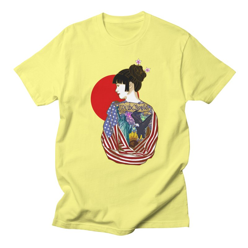 The Illustrated Woman Men's T-Shirt by ariesnamarie's Artist Shop