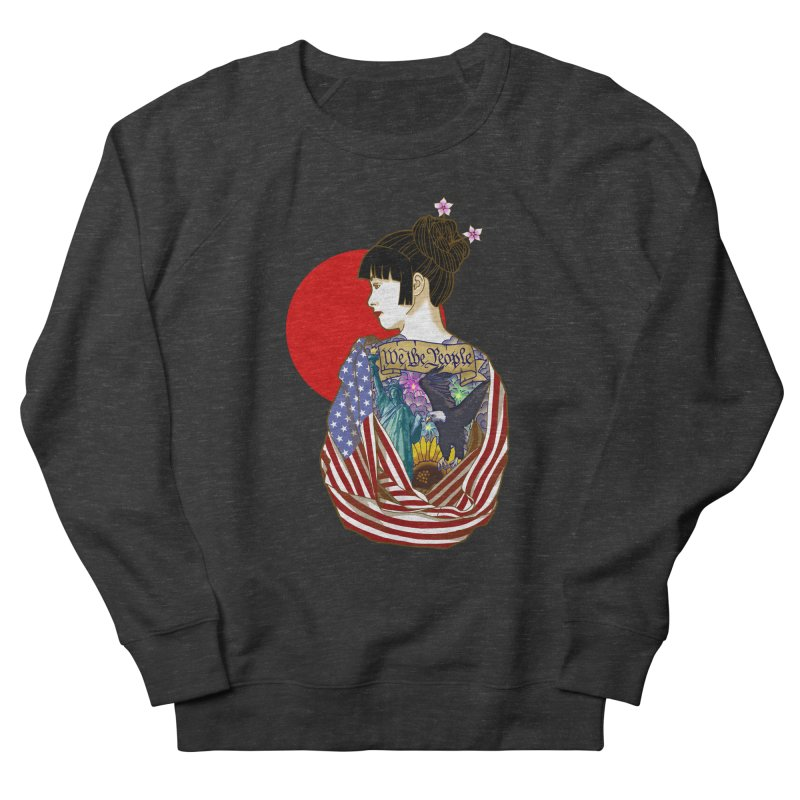 The Illustrated Woman Men's Sweatshirt by ariesnamarie's Artist Shop