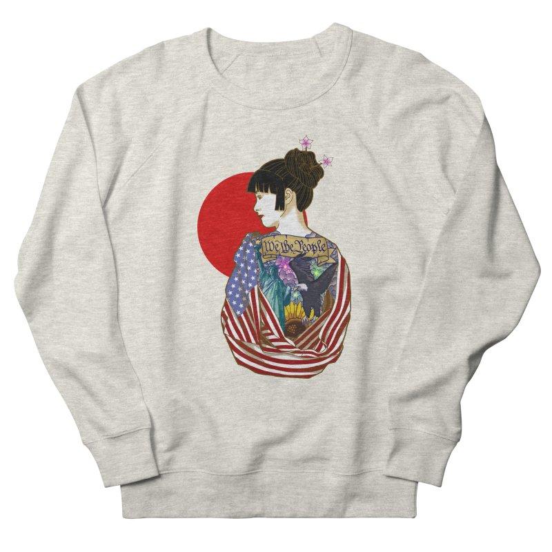 The Illustrated Woman Men's Sweatshirt by ariesnamarie's Artist Shop