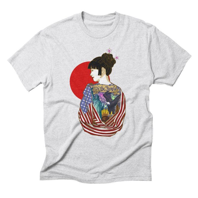 The Illustrated Woman Men's Triblend T-Shirt by ariesnamarie's Artist Shop