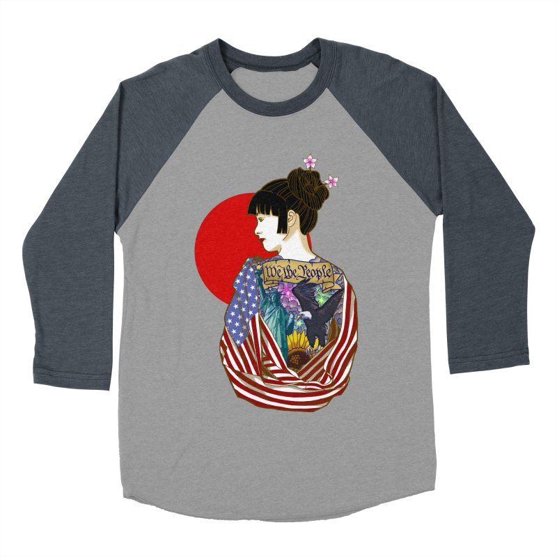 The Illustrated Woman Women's Baseball Triblend T-Shirt by ariesnamarie's Artist Shop