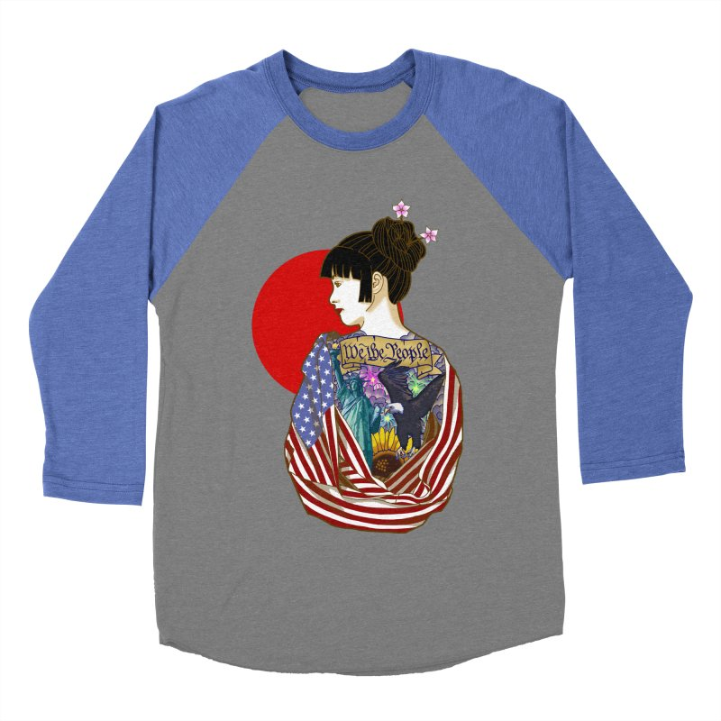 The Illustrated Woman Men's Baseball Triblend T-Shirt by ariesnamarie's Artist Shop
