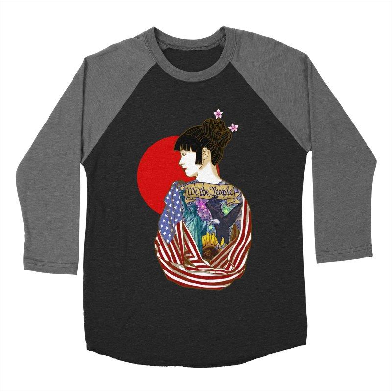 The Illustrated Woman Men's Baseball Triblend Longsleeve T-Shirt by ariesnamarie's Artist Shop