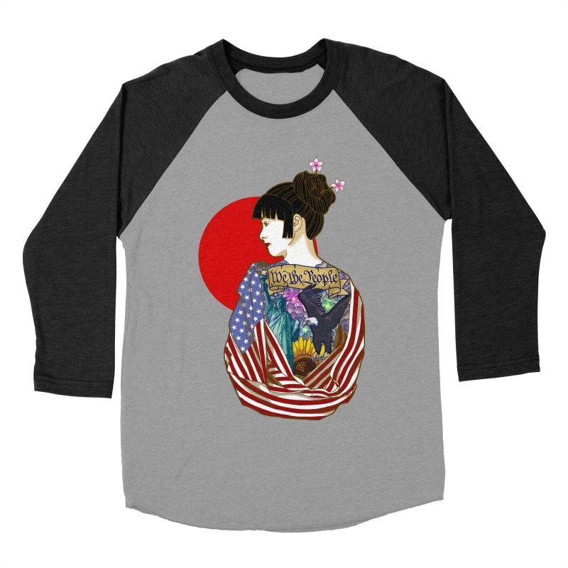 The Illustrated Woman Men's Baseball Triblend T-Shirt by ariesnamarie's Artist Shop