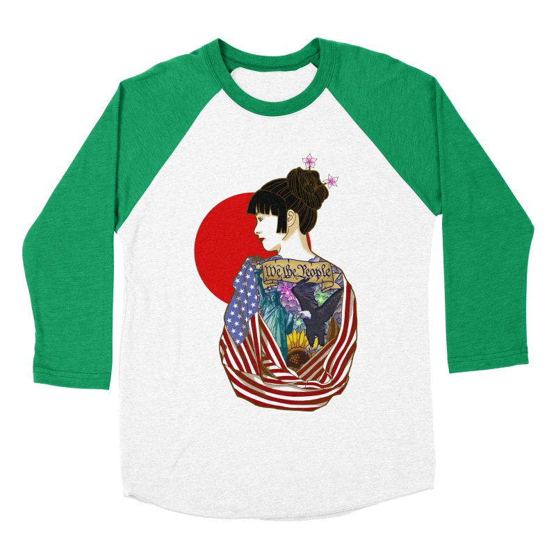 The Illustrated Woman Men's Baseball Triblend Longsleeve T-Shirt by ariesnamarie's Artist Shop