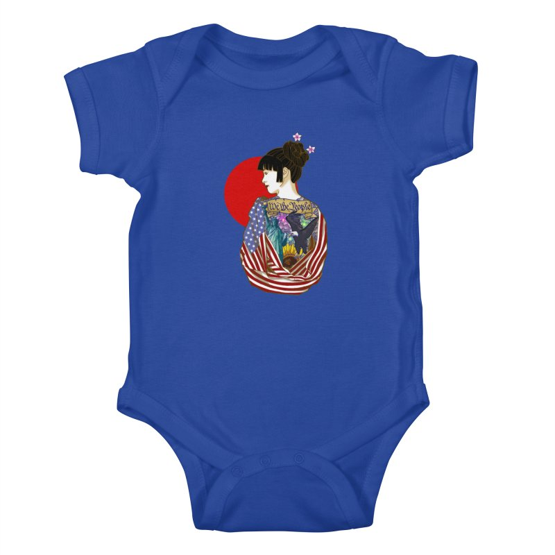 The Illustrated Woman Kids Baby Bodysuit by ariesnamarie's Artist Shop
