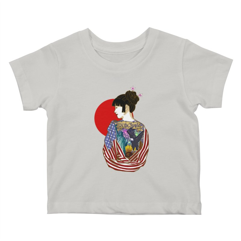 The Illustrated Woman Kids Baby T-Shirt by ariesnamarie's Artist Shop