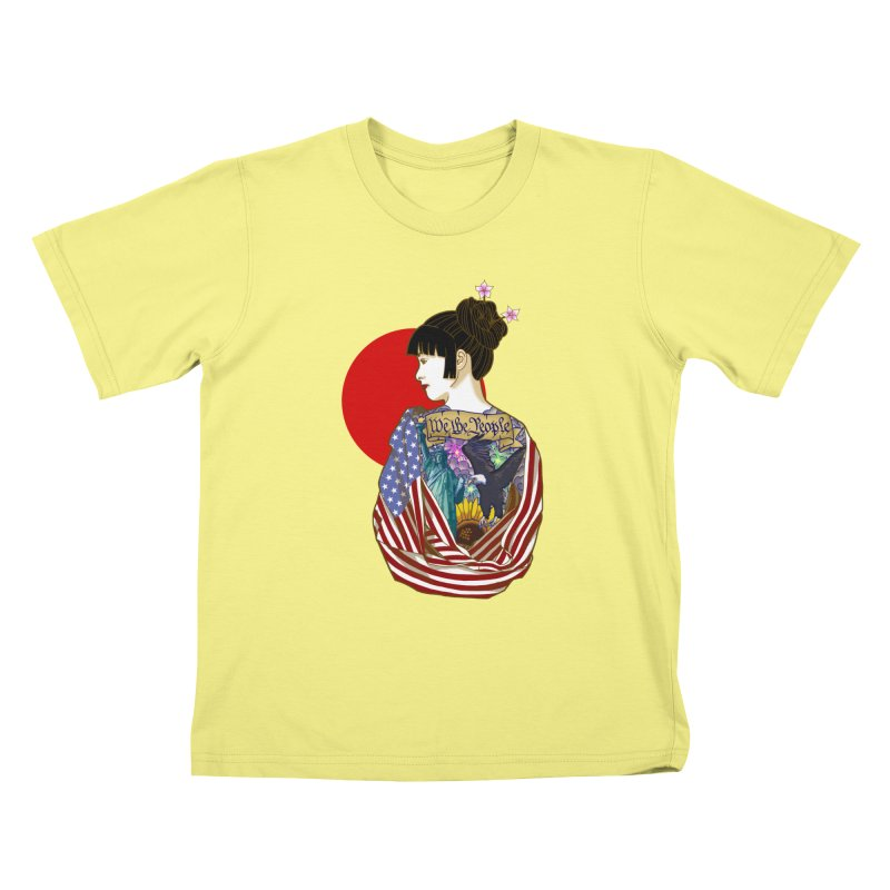 The Illustrated Woman Kids T-shirt by ariesnamarie's Artist Shop