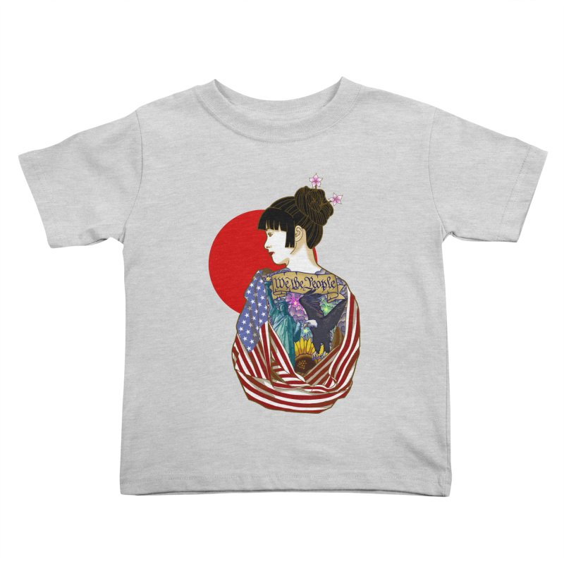 The Illustrated Woman Kids Toddler T-Shirt by ariesnamarie's Artist Shop