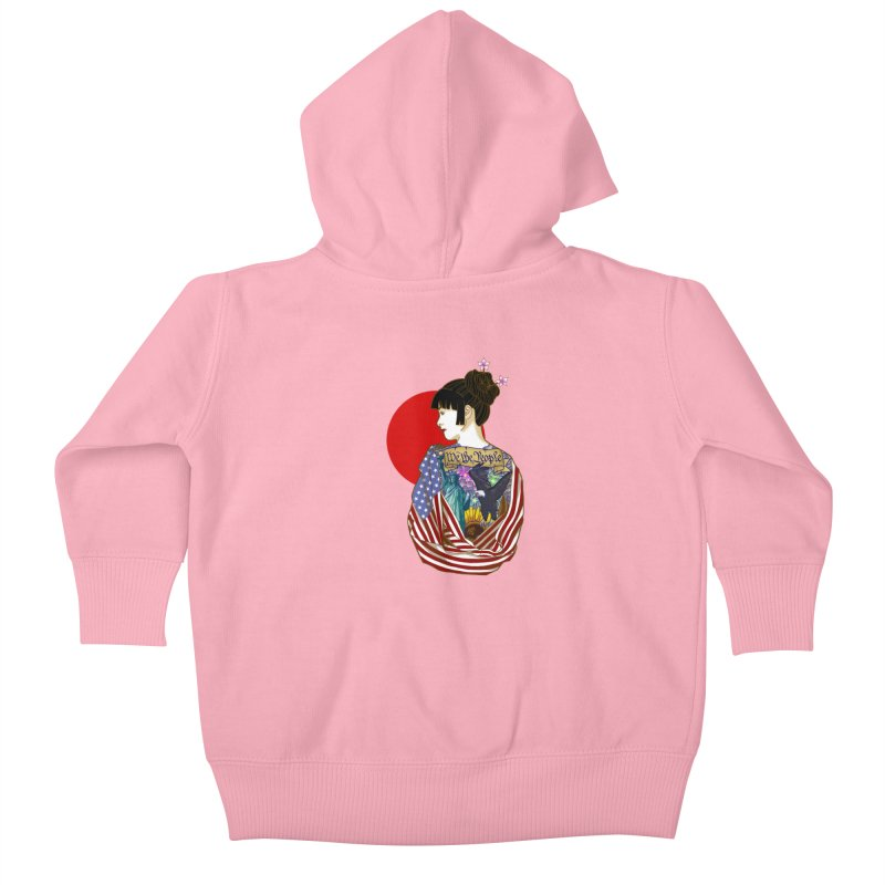 The Illustrated Woman Kids Baby Zip-Up Hoody by ariesnamarie's Artist Shop