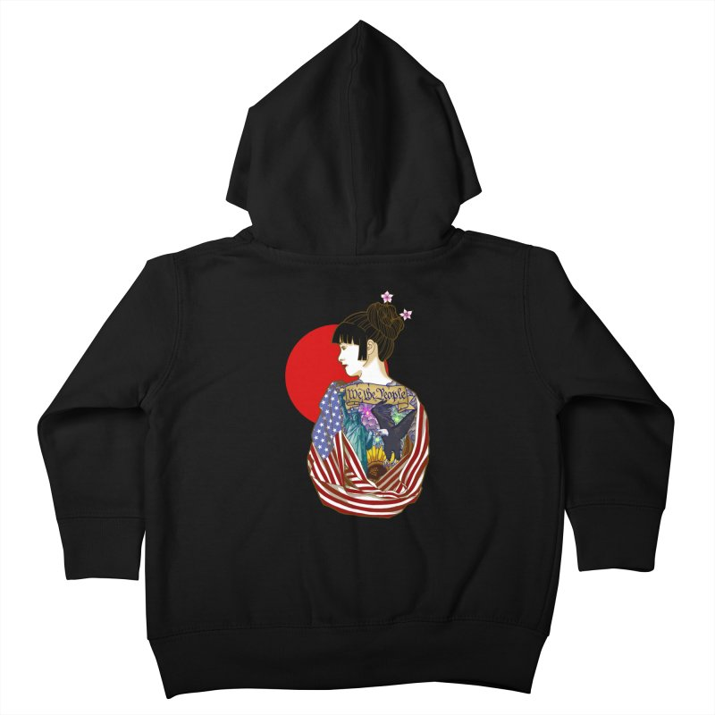 The Illustrated Woman Kids Toddler Zip-Up Hoody by ariesnamarie's Artist Shop
