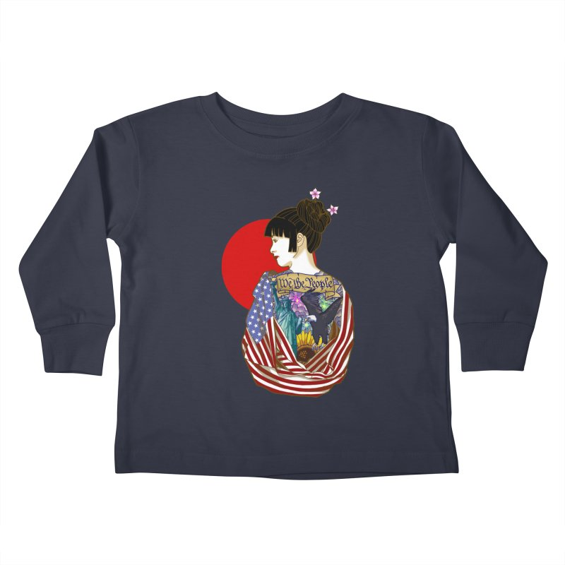 The Illustrated Woman Kids Toddler Longsleeve T-Shirt by ariesnamarie's Artist Shop