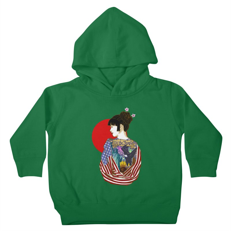 The Illustrated Woman Kids Toddler Pullover Hoody by ariesnamarie's Artist Shop
