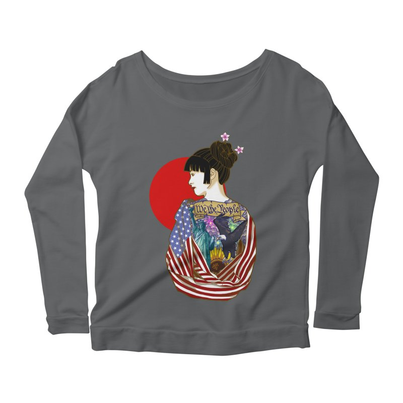 The Illustrated Woman Women's Longsleeve Scoopneck  by ariesnamarie's Artist Shop