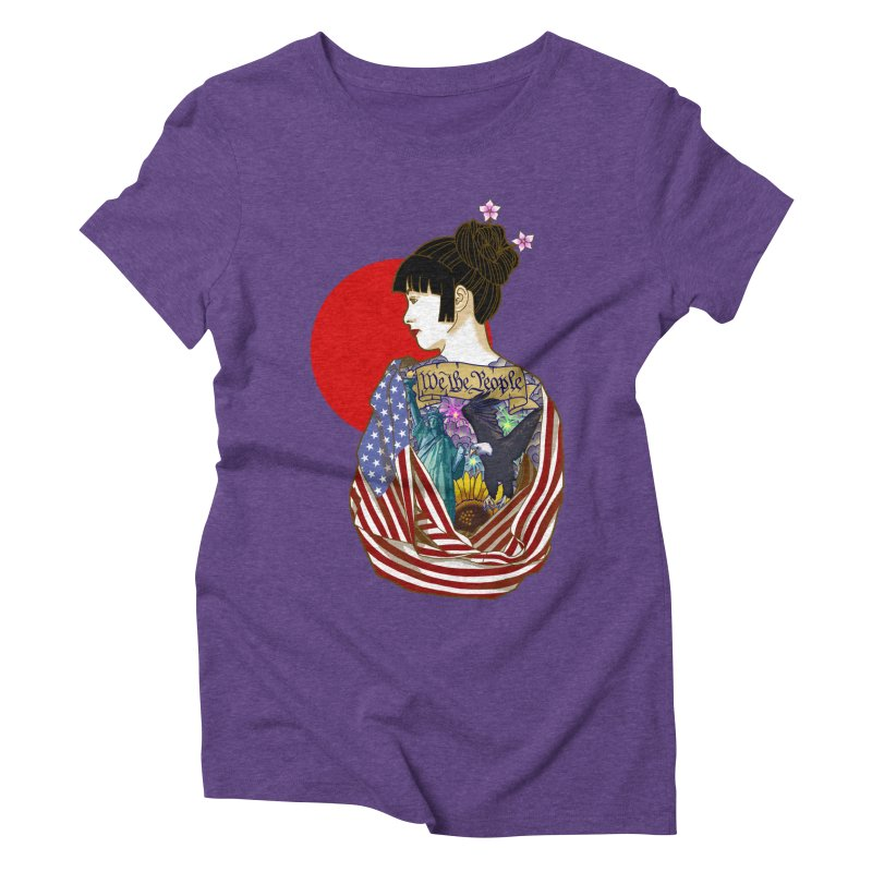 The Illustrated Woman Women's Triblend T-Shirt by ariesnamarie's Artist Shop