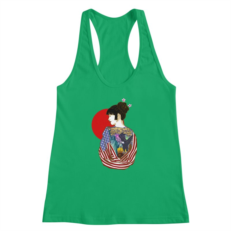 The Illustrated Woman Women's Racerback Tank by ariesnamarie's Artist Shop