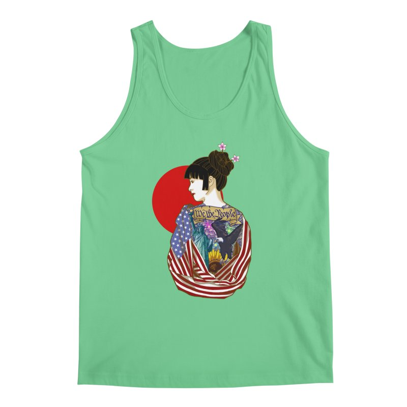 The Illustrated Woman Men's Tank by ariesnamarie's Artist Shop