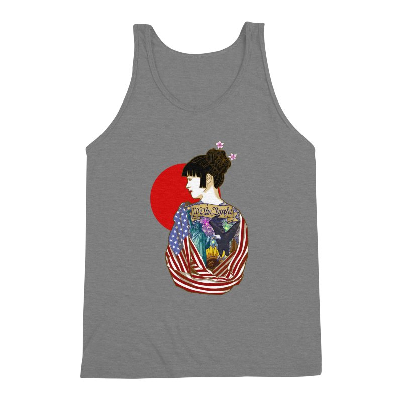 The Illustrated Woman Men's Triblend Tank by ariesnamarie's Artist Shop