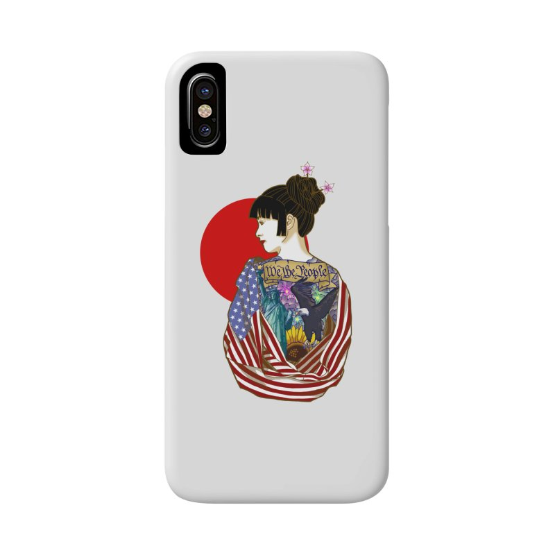The Illustrated Woman Accessories Phone Case by ariesnamarie's Artist Shop