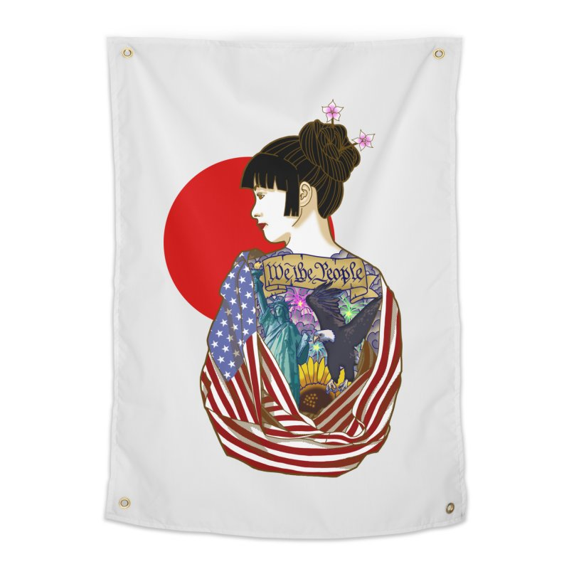 The Illustrated Woman Home Tapestry by ariesnamarie's Artist Shop