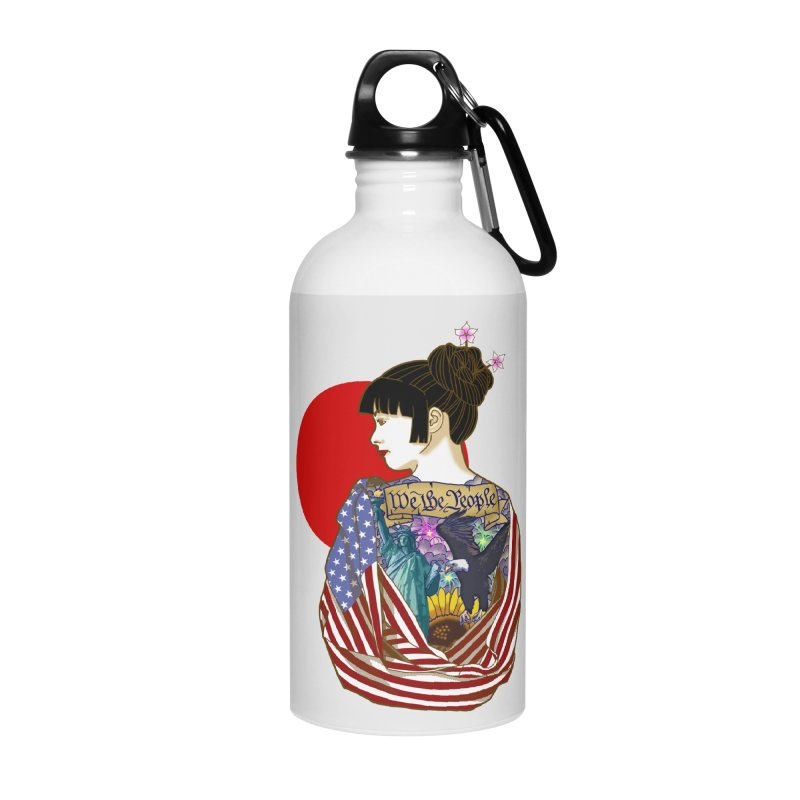 The Illustrated Woman Accessories Water Bottle by ariesnamarie's Artist Shop