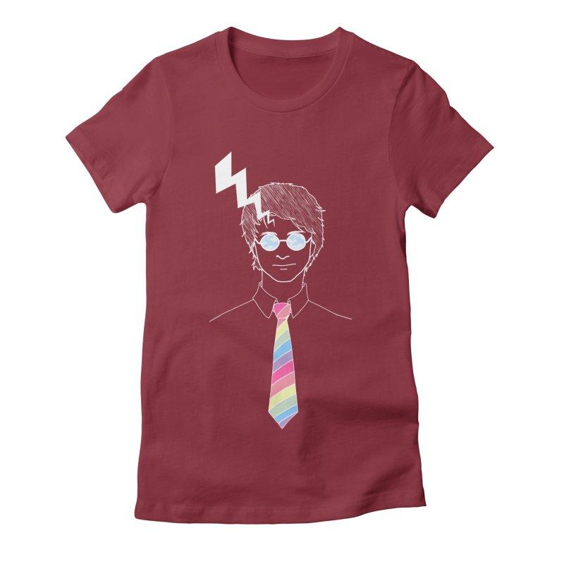 Lightning Has Struck Women's Fitted T-Shirt by ariesnamarie's Artist Shop