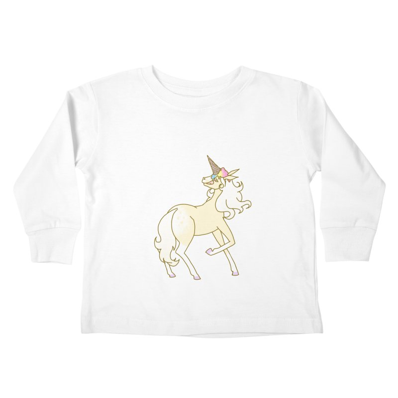 Ice Cream Dream Kids Toddler Longsleeve T-Shirt by ariesnamarie's Artist Shop