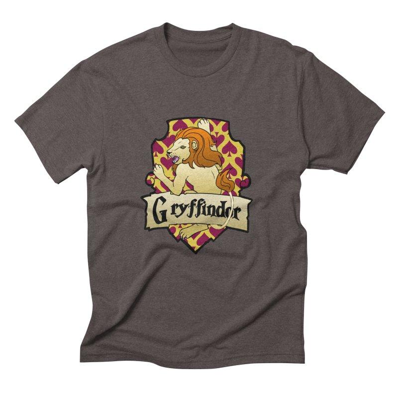 Courage House Crest Men's Triblend T-Shirt by ariesnamarie's Artist Shop