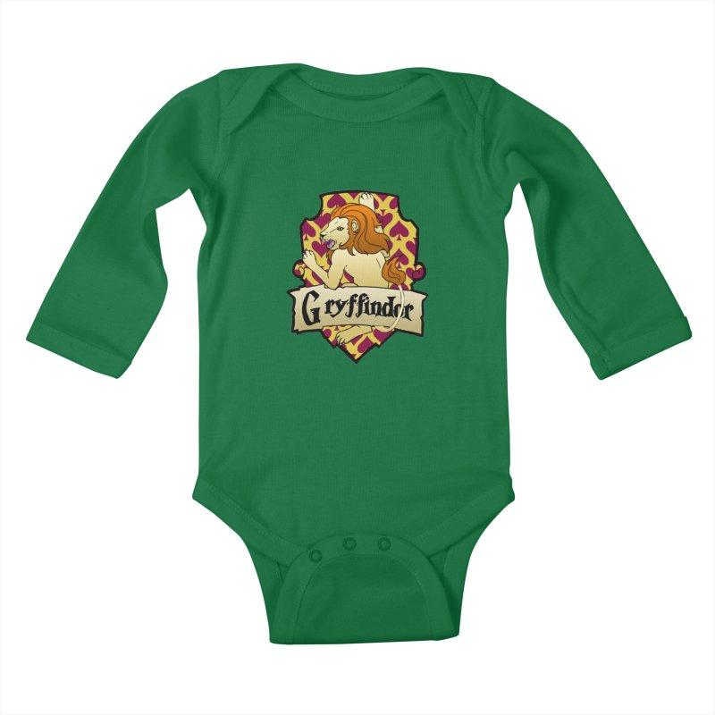 Courage House Crest Kids Baby Longsleeve Bodysuit by ariesnamarie's Artist Shop