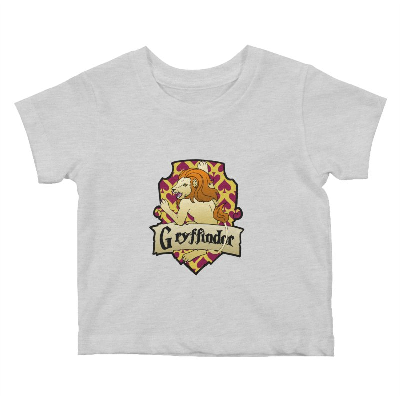 Courage House Crest Kids Baby T-Shirt by ariesnamarie's Artist Shop