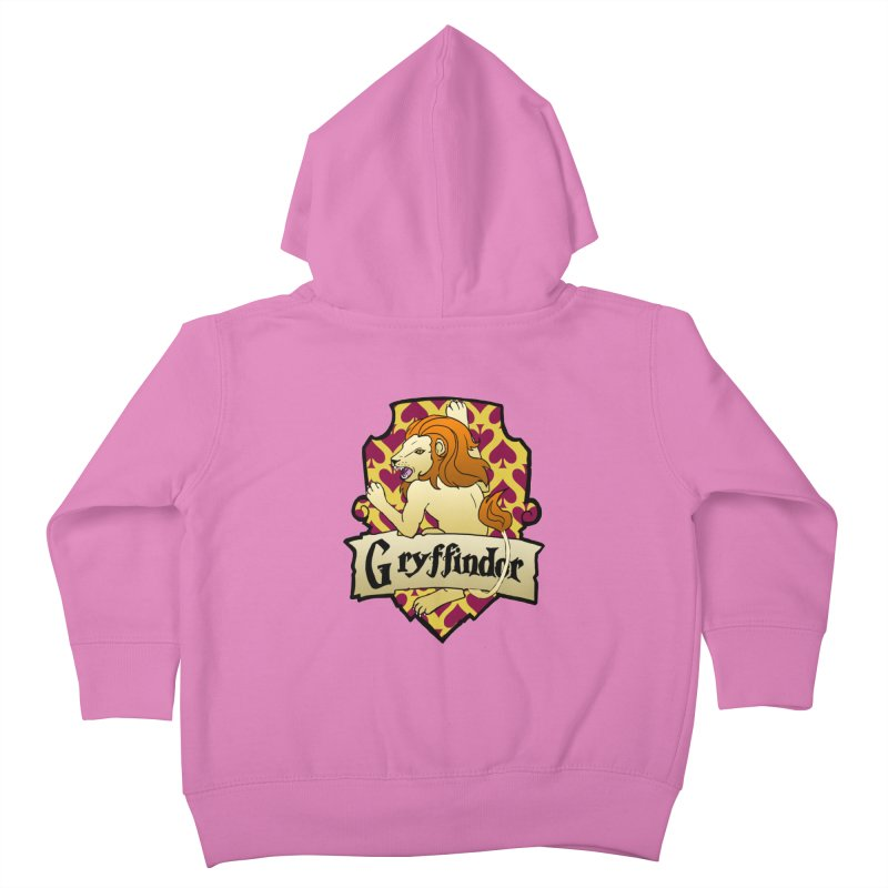 Courage House Crest Kids Toddler Zip-Up Hoody by ariesnamarie's Artist Shop