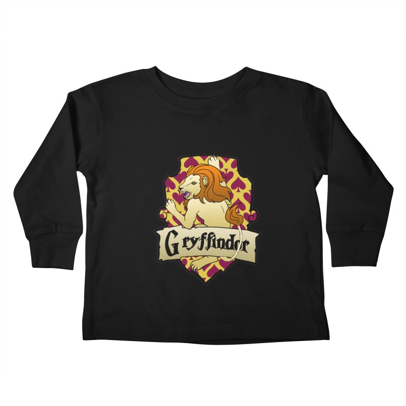 Courage House Crest Kids Toddler Longsleeve T-Shirt by ariesnamarie's Artist Shop