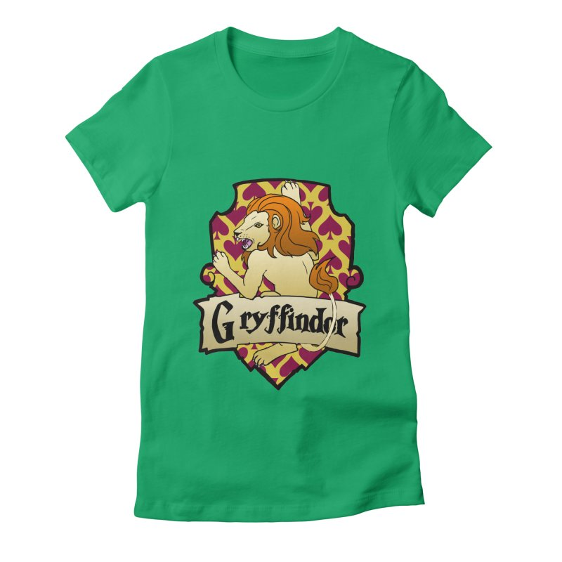 Courage House Crest Women's Fitted T-Shirt by ariesnamarie's Artist Shop